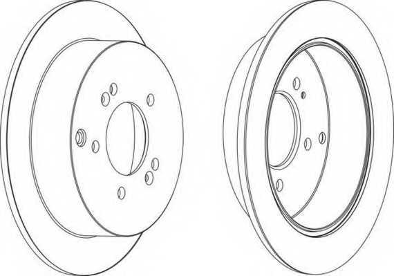 Тормозной диск FERODO DDF1493 - изображение