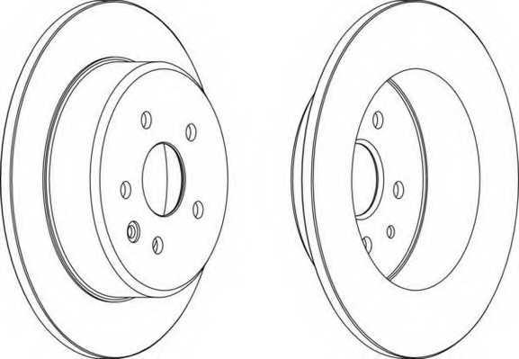 Тормозной диск FERODO DDF1499 - изображение