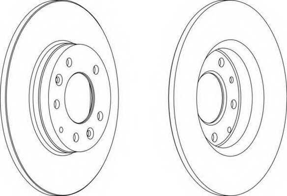 Тормозной диск FERODO DDF1500 - изображение