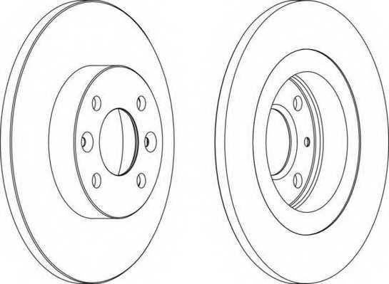 Тормозной диск FERODO DDF1502 - изображение