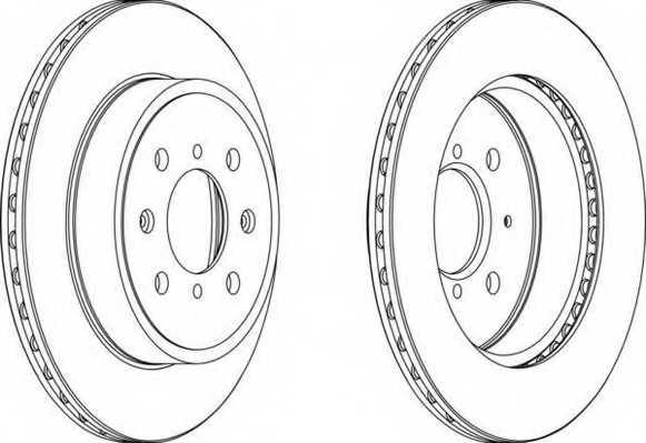 Тормозной диск FERODO DDF1509 - изображение