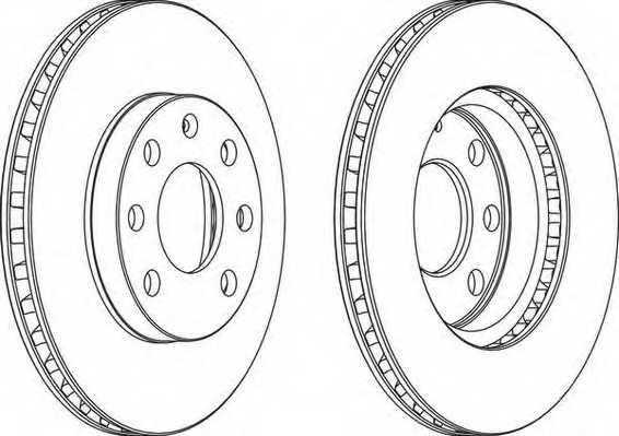 Тормозной диск FERODO DDF151 - изображение