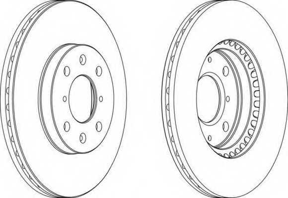 Тормозной диск FERODO DDF1520 - изображение