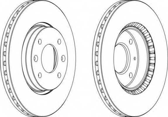 Тормозной диск FERODO DDF1522 - изображение