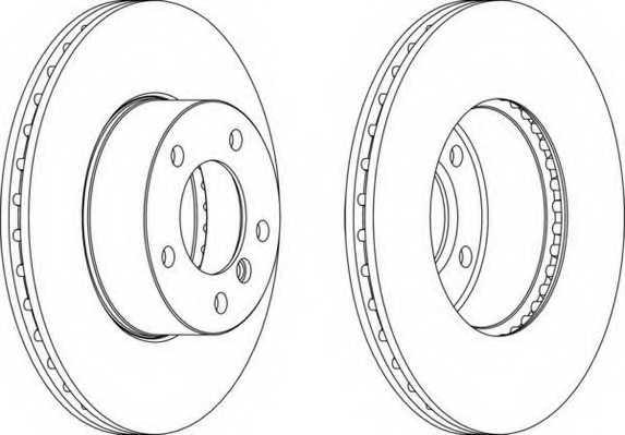 Тормозной диск FERODO DDF1536 - изображение