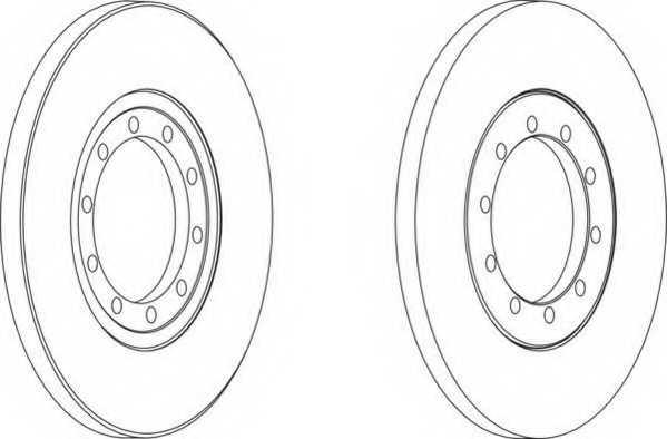 Тормозной диск FERODO DDF1537 - изображение