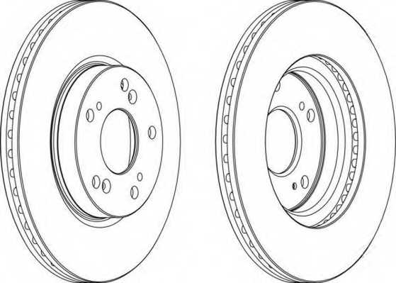 Тормозной диск FERODO DDF1539 - изображение