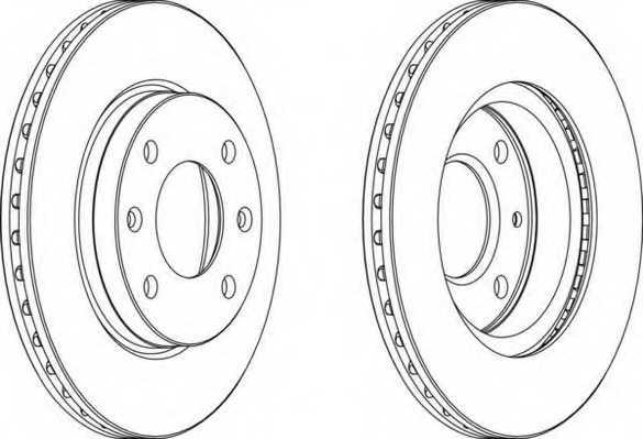 Тормозной диск FERODO DDF154-1 - изображение