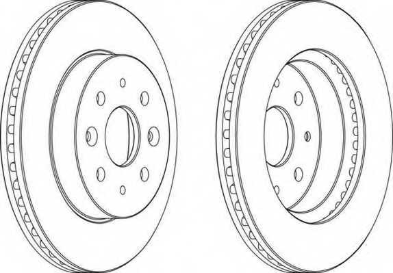 Тормозной диск FERODO DDF1542 - изображение