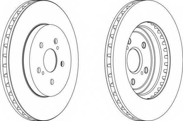 Тормозной диск FERODO DDF1544 - изображение