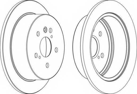 Тормозной диск FERODO DDF1545 - изображение