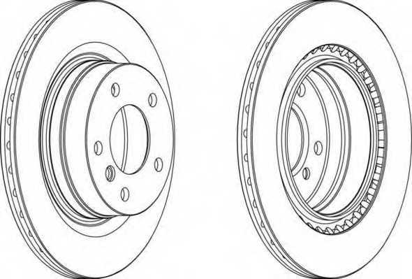 Тормозной диск FERODO DDF1549 - изображение