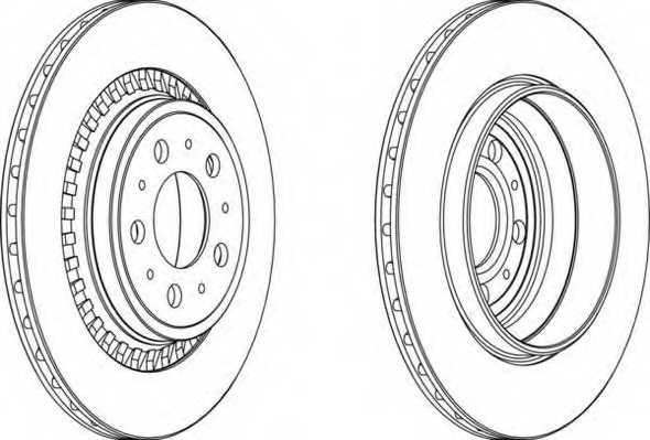 Тормозной диск FERODO DDF1551 - изображение