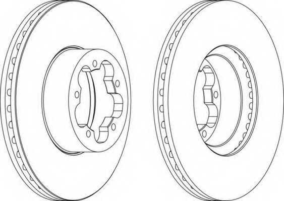 Тормозной диск FERODO DDF1554 - изображение