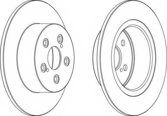 Тормозной диск FERODO DDF1556 - изображение