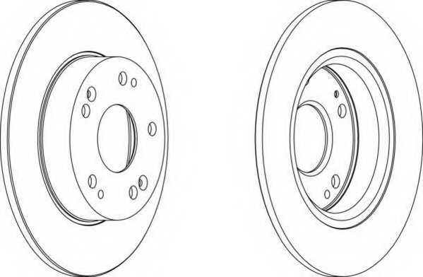 Тормозной диск FERODO DDF1558 - изображение