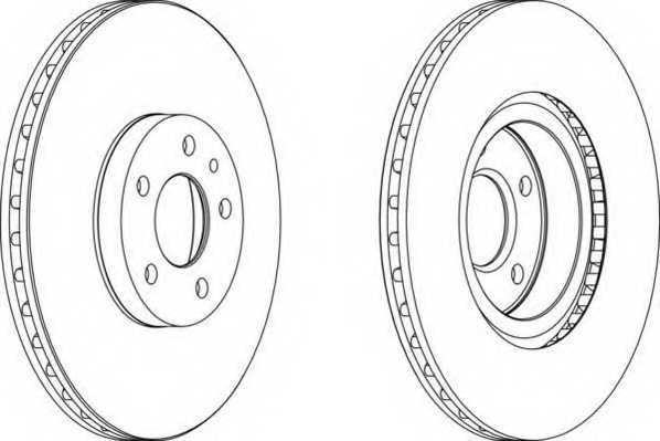 Тормозной диск FERODO DDF156 - изображение