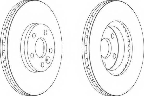 Тормозной диск FERODO DDF1567 - изображение