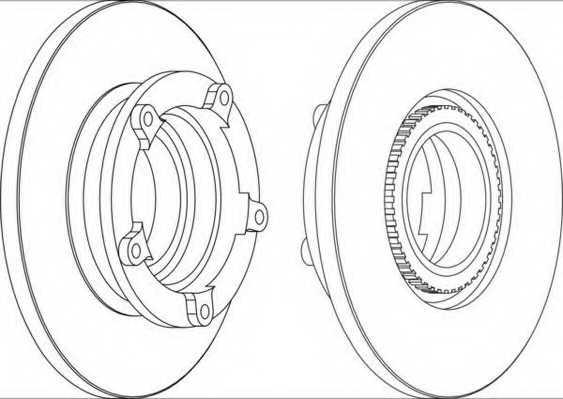 Тормозной диск FERODO DDF1573-1 - изображение