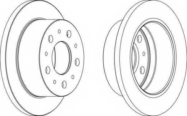 Тормозной диск FERODO DDF1574 - изображение