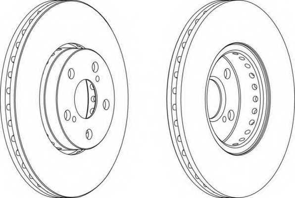 Тормозной диск FERODO DDF1575 - изображение