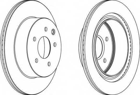 Тормозной диск FERODO DDF1579 - изображение
