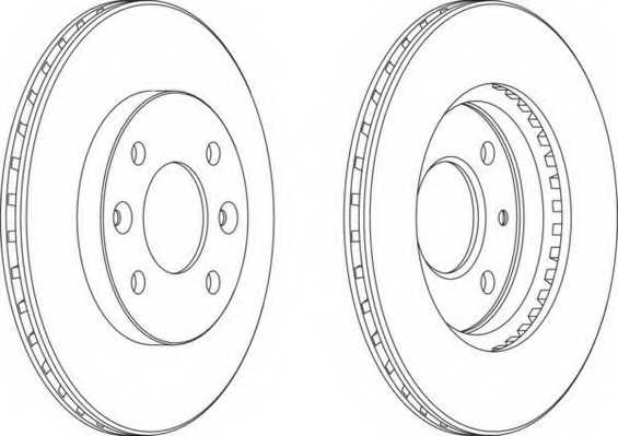 Тормозной диск FERODO DDF158 - изображение