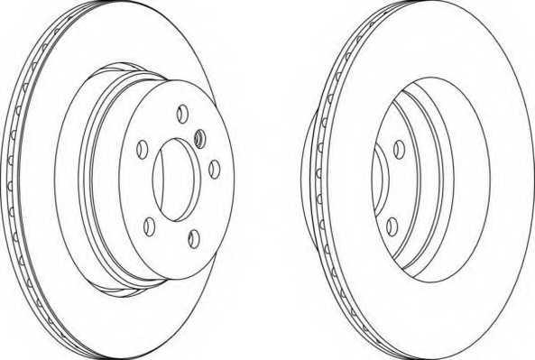 Тормозной диск FERODO DDF1583 - изображение