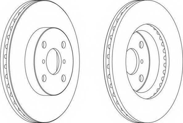 Тормозной диск FERODO DDF1587 - изображение