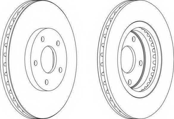 Тормозной диск FERODO DDF1589 - изображение