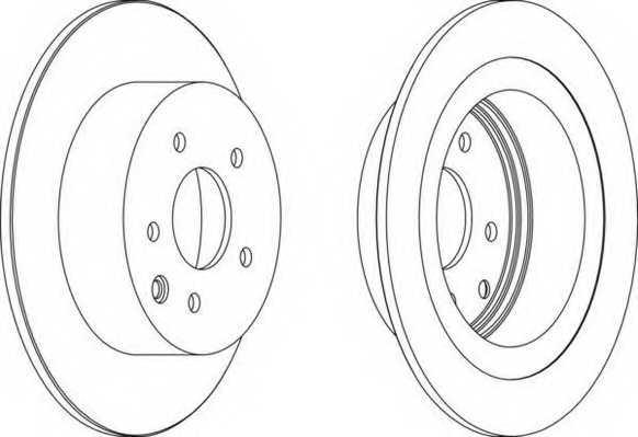 Тормозной диск FERODO DDF1590 - изображение