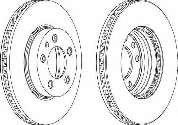 Тормозной диск FERODO DDF1591LC-1 - изображение