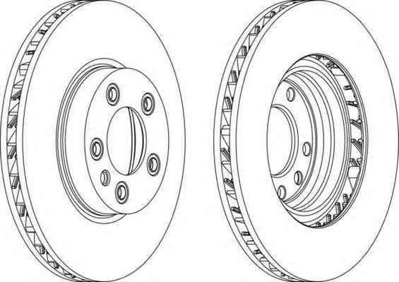 Тормозной диск FERODO DDF1591RC-1 - изображение