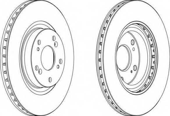 Тормозной диск FERODO DDF1596 - изображение