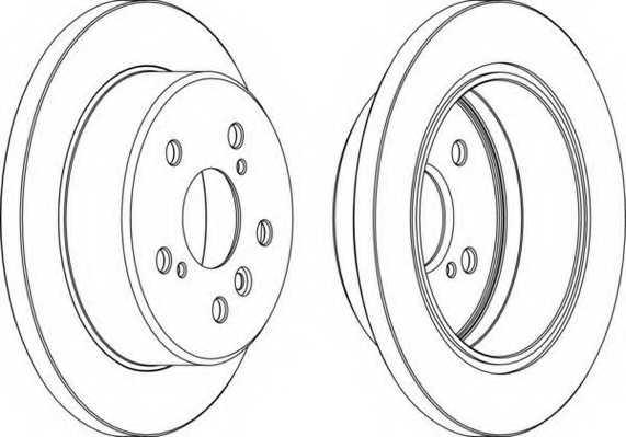 Тормозной диск FERODO DDF1598 - изображение