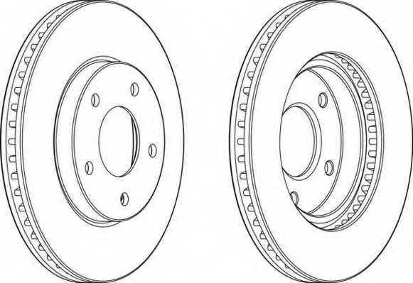Тормозной диск FERODO DDF1599 - изображение