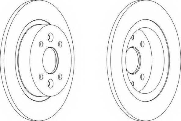 Тормозной диск FERODO DDF1600 - изображение