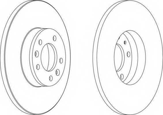 Тормозной диск FERODO DDF1602 - изображение