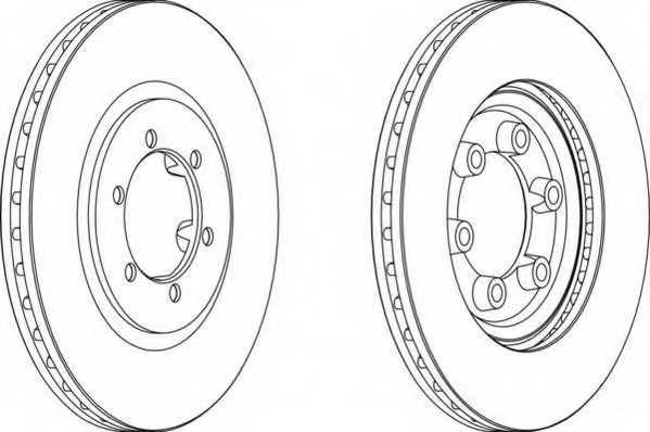 Тормозной диск FERODO DDF1605 - изображение