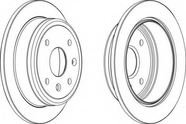 Тормозной диск FERODO DDF1606 - изображение