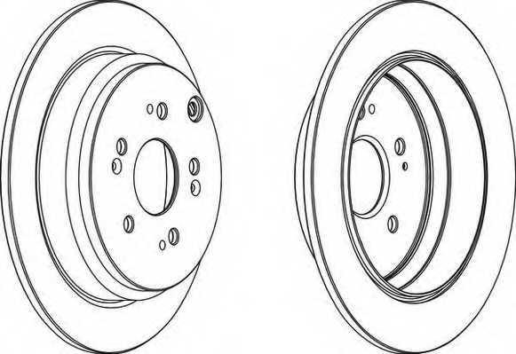 Тормозной диск FERODO DDF1608 - изображение