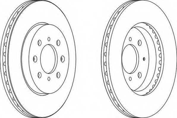Тормозной диск FERODO DDF1610 - изображение