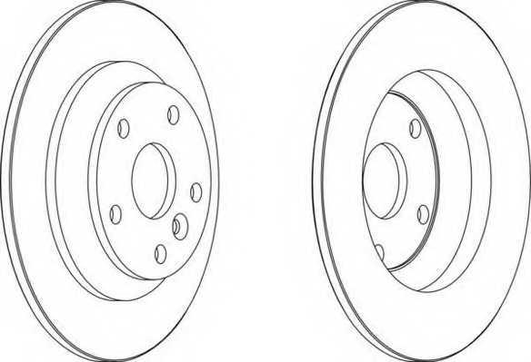 Тормозной диск FERODO DDF1616 - изображение