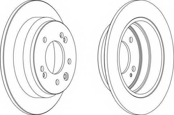 Тормозной диск FERODO DDF1618 - изображение