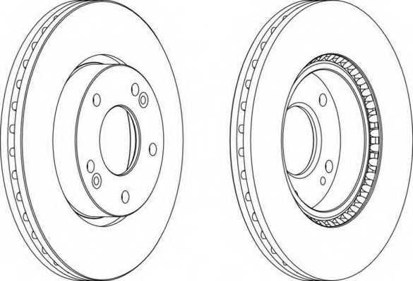 Тормозной диск FERODO DDF1619-1 - изображение