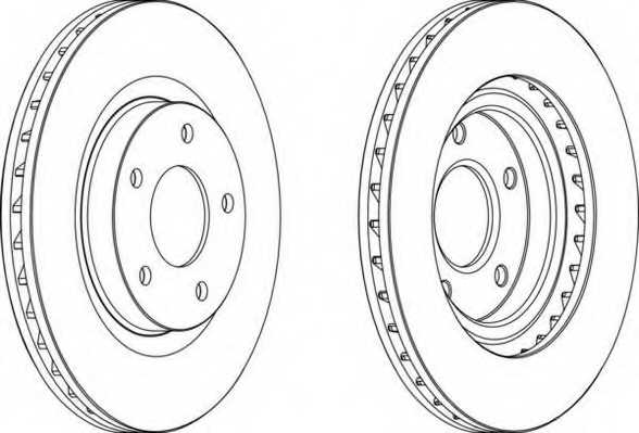 Тормозной диск FERODO DDF1624 - изображение