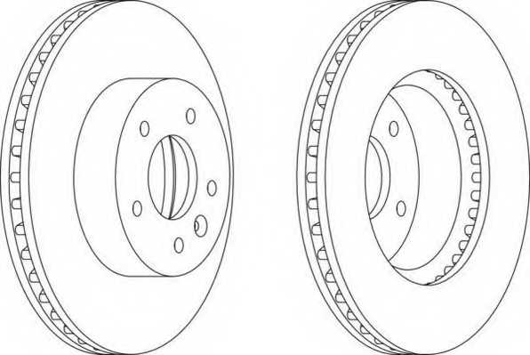 Тормозной диск FERODO DDF1625 - изображение