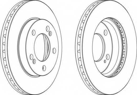 Тормозной диск FERODO DDF1627 - изображение