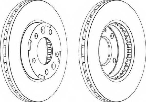 Тормозной диск FERODO DDF1629 - изображение
