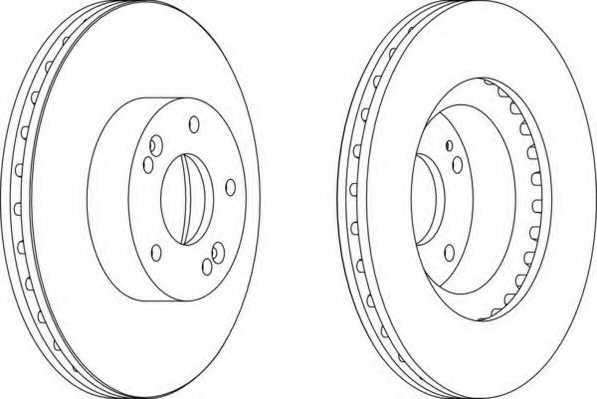 Тормозной диск FERODO DDF1630 - изображение